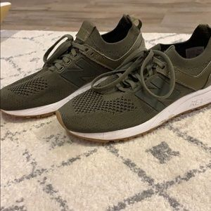 New Balance RevLite Olive Green Sneakers